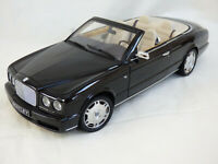MINICHAMPS 1:18 Black 2006 Bentley Azure Convertable Detailed Luxury Car Toy Box