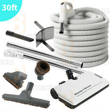 Central Vacuum Hose Rugmaster Powerhead Vac Cleaning Tool kit Electrolux 30'ft !