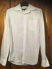 Men's George Tailor & Cutter White Long Sleeved Shirt Size 15