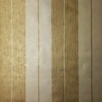 Wallpaper Yellow Gold Metallic Textured Striped Modern Stripes Wallcoverings 3D