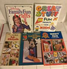 Disney Mickey Mouse Variety Plastic Canvas Pattern Book LOT Kids Craft Projects