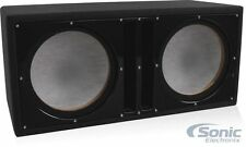 "Belva BBX210BK Dual 10"" Ported Enclosure Custom Subwoofer Box Satin Black Baffle"