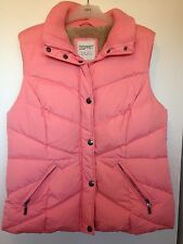 Esprit Pink Feather Padded Gilet - Size 18