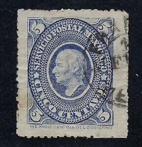 MEX 1885 5c MEDALLION  ISSUE   SC#0169 CV$3.50 (al372)