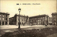 REIMS Place Royal Carte Postale CPA Grande Guerre 1.WK Weltkrieg World War I.