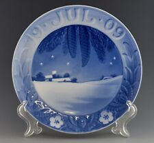 """6"""" Antique Royal Copenhagen 1909 Christmas Plate Danish Landscape  - KS-2"""
