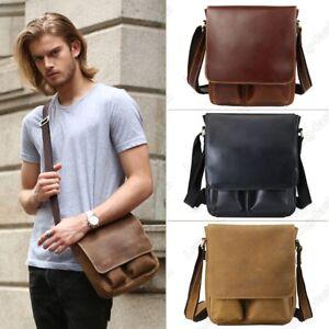 Men Genuine Leather Messenger Shoulder Bag Crossbody Bag Office Satchel Man Gift