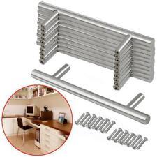 20pcs T-Barre poignées meuble inoxydable 128mm porte d'armoire placard tiroir