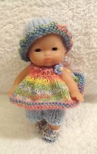 "Hand Knitted Clothes for 5"" Berenguer Doll (#141)"