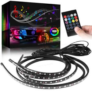 "Universal RGB 36""&48"" Tube LED Under Underglow Neon Strip Light Kit For Nissan"