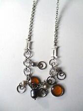 Anjel collana in acciaio con topazi e perle