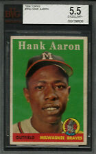 1958 Topps #30 A Hank Aaron WL BVG 5.5 EX+ HOF Braves Name in White Letters