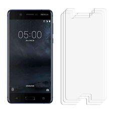 2 X Transparente LCD Ahorrador De Lámina Película Protectora De Pantalla Para Nokia Lumia 5