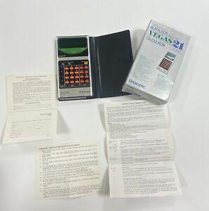 Unisonic Deluxe Pocket Black Jack Computer Vegas 21 Calculator & Box No Charger