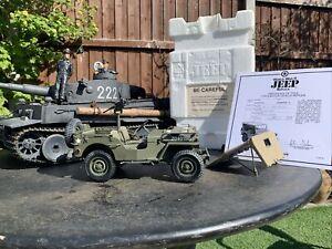 WW2 Jeep Willys 1:16 4x4 US Army DieCast Franklin Danbury Mint