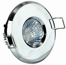 POLISHED CHROME BATHROOM SHOWER DOWNLIGHTS IP65 ZONE 1 2 3 - GU10 240V OR LV