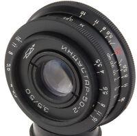 Industar-50-2 50mm Objektive M42 pancake dSLR Pentax Canon Sony A tessar