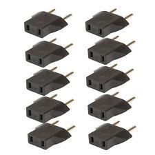 10x US USA a EU Euro Europa AC Power Plug Converter adaptador de viaje cargador