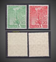 1952 GERMANY OCCUPATION BERLIN OLYMPICS 10PF 20PF NH  SCT.9N82-83 MI.89-90