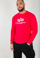 ALPHA INDUSTRIES Basic Sweater | Speed Red 328 (178302) Herren Logo Sweatshirts