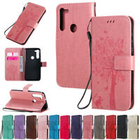 Cat Tree Wallet Leather Flip Case Cover For Motorola Moto G8 Play G8 Power E6S
