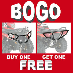 Front & Rear Brush Guard Bumper Set for 2014-20 Polaris Sportsman 450 570 & ETX