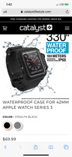NEW! Catalyst Water Proof Case for Apple Watch 42mm Series 3 Stealth Black WOW!!