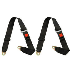 2Pcs Adjustable Seat Belt Car Truck Lap Belt Universal 2 Point Safety Travel
