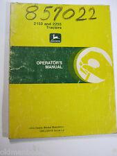 John Deere 2150 & 2255 Tractors Operator'S Manual Om-L39646 L2