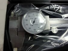 "0-6"" dial caliper .001"" grad shock proof dual scale stainless hardened import"