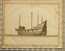 More details for 1802 print charnock marine architecture draft english ship of war 1688 tapestry