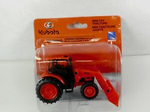 New Ray Kubota M5-111 Pull Back Farm Tractor with Bucket Loader 1:48 Scale