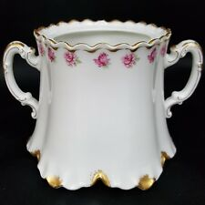 Haviland Schleiger 957 mini sugar dish pink roses gold trim NO LID fine china