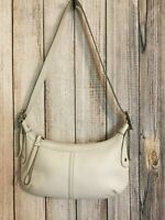 COACH Leatherware Small Cream Ivory 7451 Hobo Shoulder Bag
