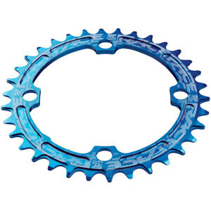 RaceFace Narrow Wide Chainring 104mm BCD 36t Blue