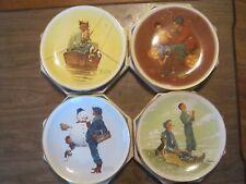 "Norman Rockwell 1976 Four Seasons Plate Set, Four 10 1/2"" Plates Ltd (019-3)"