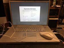 "Apple PowerBook 17"" Laptop - (A1107) M9689LL/A + External Battery Charger Bundle"