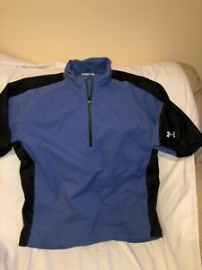 Under Armour Gold Wear Mens Large Blue Black Pullover Shirt