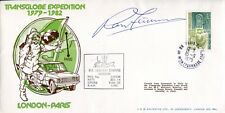 Explorer Sir Ranulph Fiennes signed Transglobe Expedition cover London-Paris