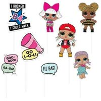 LOL Surprise Photo Booth Props on Sticks Birthday Party Selfie Cute Baby Dolls