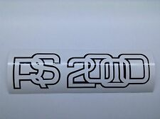 2x Ford Escort Mk2 RS2000 Decal / Sticker