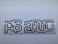 2x Ford Escort Mk2 RS2000 Calcomanía/Pegatina