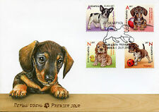 Belarus 2017 FDC Puppies Dogs 4v Set Cover Pets Domestic Animals Stamps