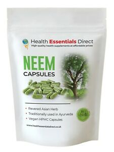 Neem Capsules - Full Spectrum (High Strength, Anti-Oxidant, Antimicrobial)