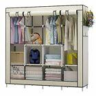 Portable Closet Wardrobe Closet Clothes Organizer with 6 Storage Shelf Large