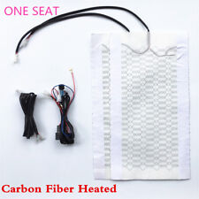 Car 1 Seat Carbon Fiber Heated Seat Heater Pad 4 Colors 3 Files Switch Kit Truck