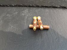 1 PAIR OF 6MM COPPER AND BRASS LOVELESS BOLTS KNIFE MAKING HANDLE SCALES