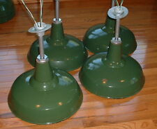 "(1) 1912 BENJAMIN 16""Green Porcelain Barn Light Industrial Enamel Lamp UL Socket"