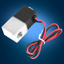 """Stainless Steel 12V 1/4""""  DC Slim Brass Electric Solenoid Valve Gas Water Air"""
