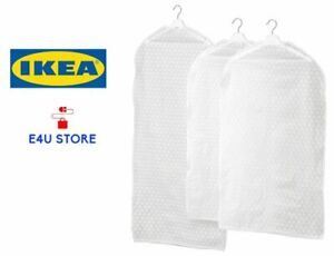 ZIPPER CLOTHES COVER HANGING FLODABLE WARDROBLE ORGANISER - SET OF 3, BY IKEA